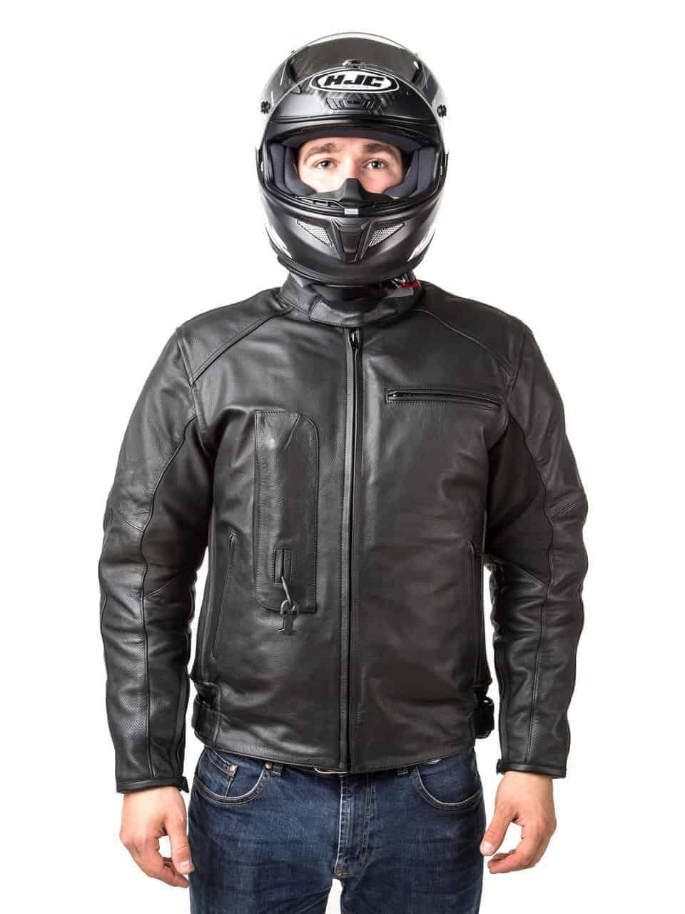 Helite Leather Jacket in Black