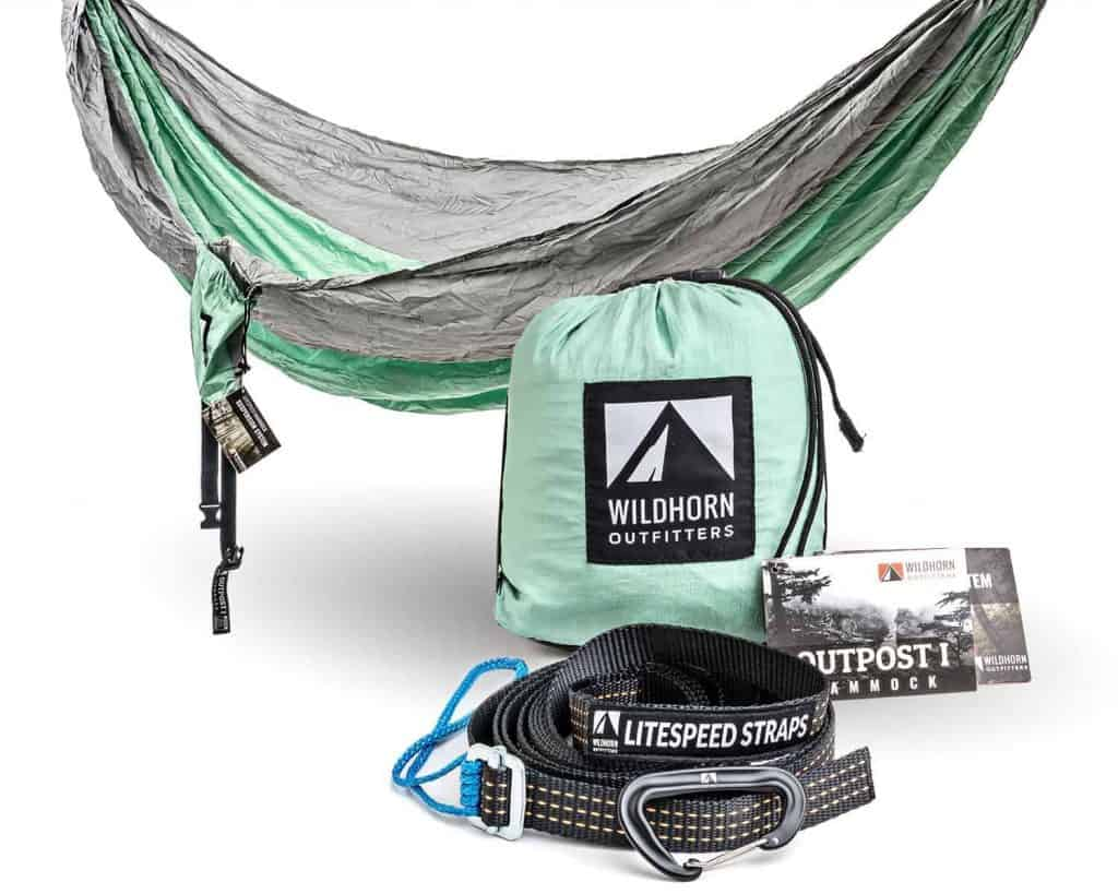 Wildhorn Outfitters Outpost Hammock Silver/Lime Green