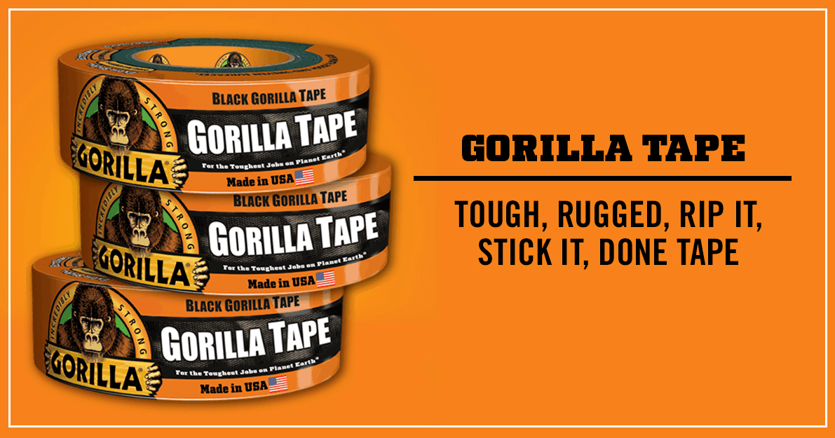 Gorilla Tough Duct Tape Range – Super Strong Duct Tape on Steroids!