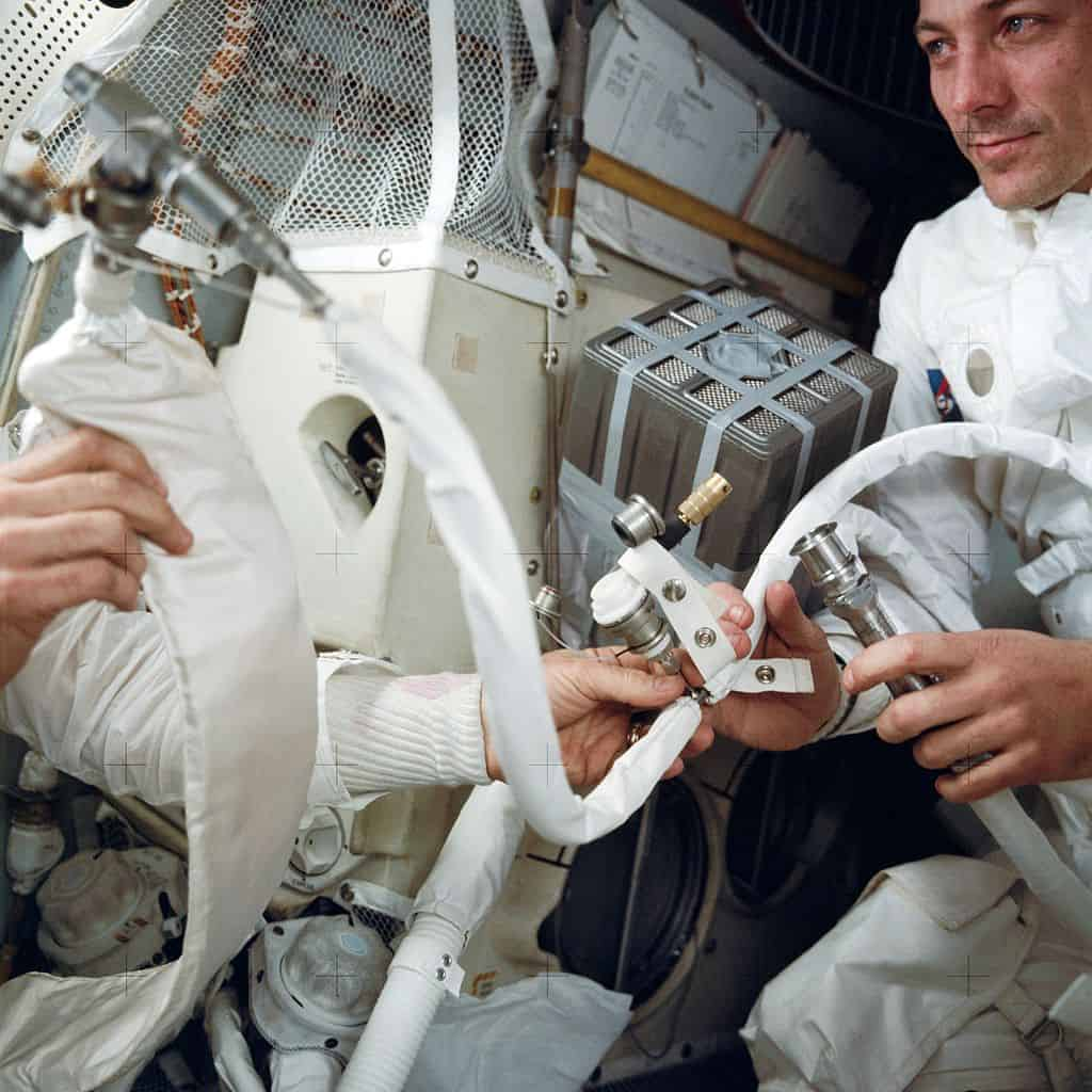 Duct Tape to the rescue - Apollo 13 astronauts