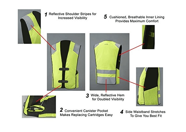 MotoAir Airbag One Motorcycle Airbag Vest Hi-Viz