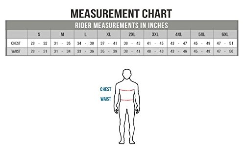 MotoAir Mesh Jacket Size Chart