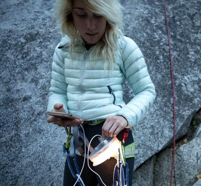 Charging Luci Solar Light Climbing