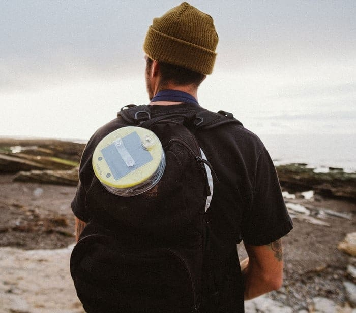 Charging Luci Solar Light on your Backpack