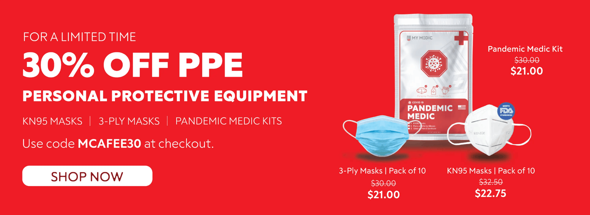 30 Percent Off Personal Protective Equipment (PPE)