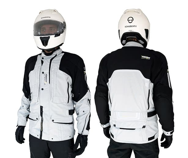 Helite Adventure Airbag Jacket in Grey front and back