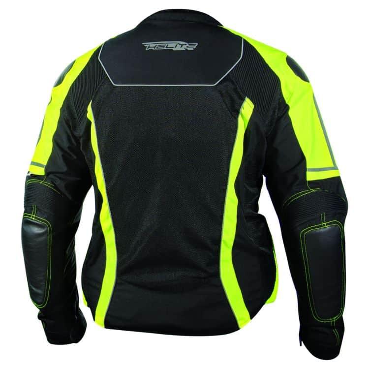 Helite Free Air Mesh Airbag Jacket with Hi-Viz Stripes Back