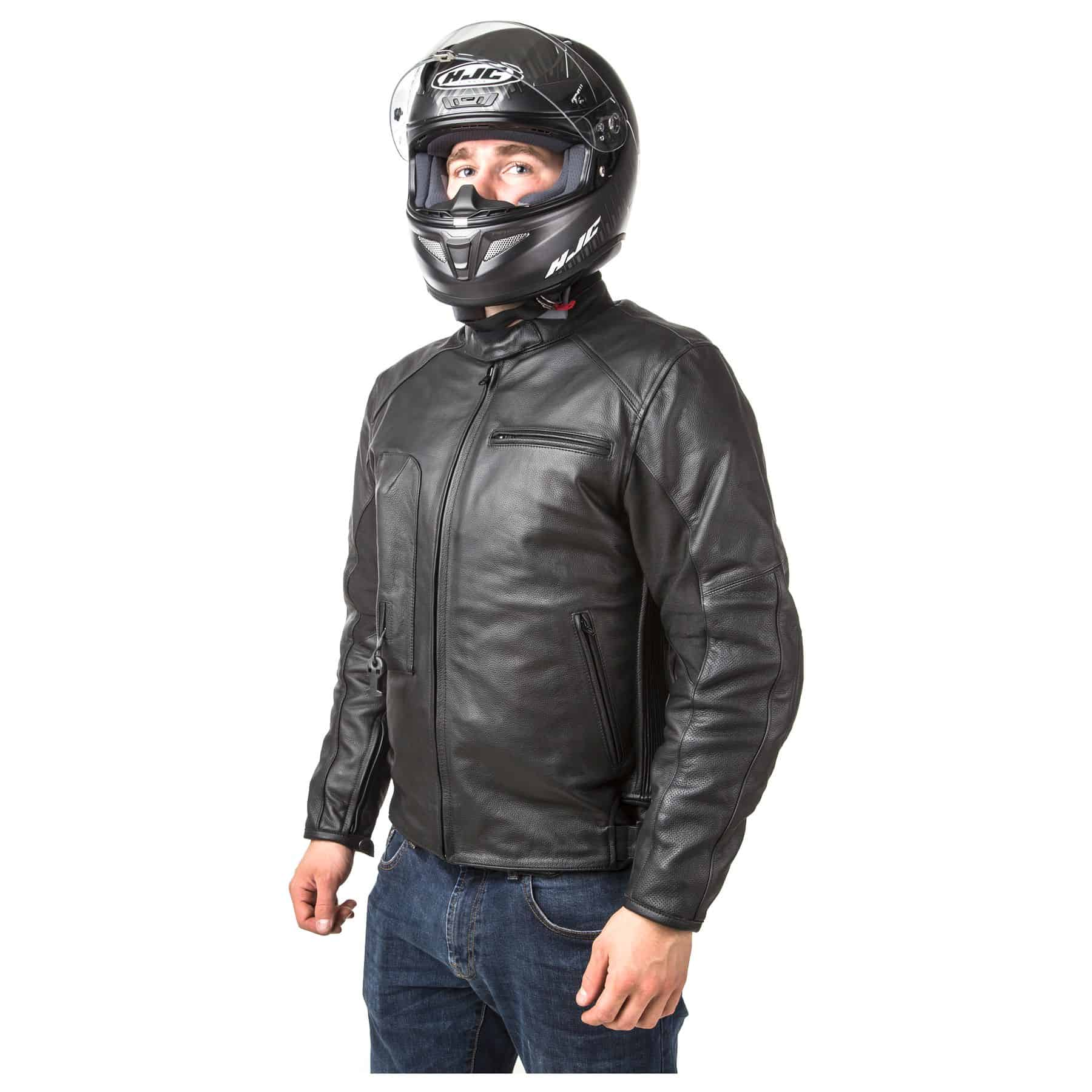 Helite Leather Jacket - Black - Front