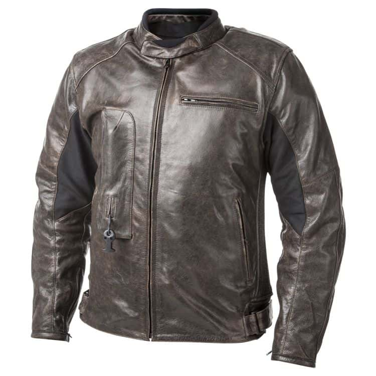 Helite Leather Jacket - Brown - Front