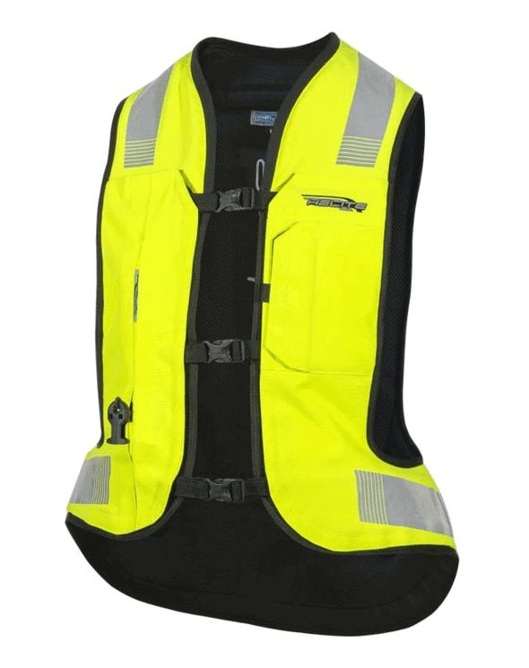 Helite Turtle 2 Airbag Vest Hi-viz Yellow