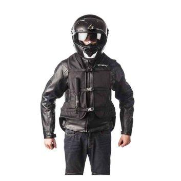 Helite Turtle Airbag Vest Over Jacket - Black