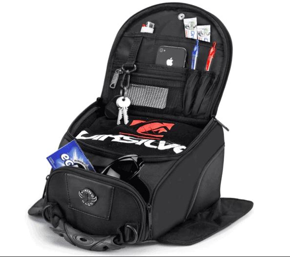 Viking 14 Medium Black Street and Sportbike Tank Bag