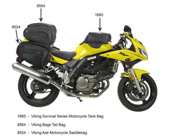 Viking Bags Street/Sports Bike Luggage options