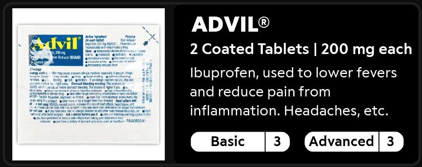 Advil 3-3