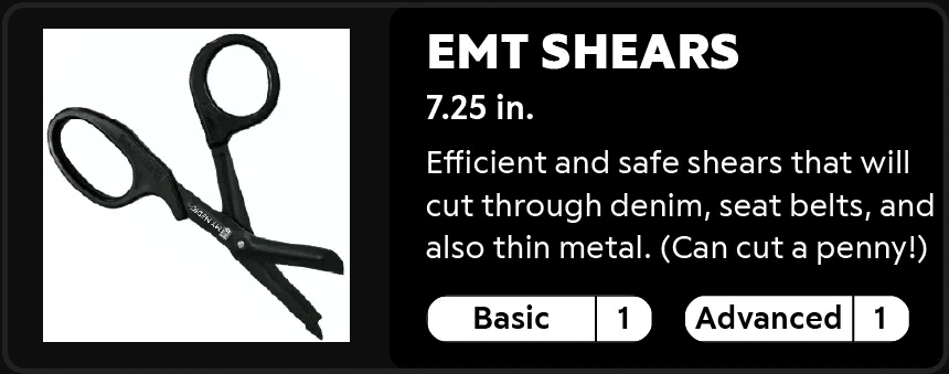 EMT Shears 7.25