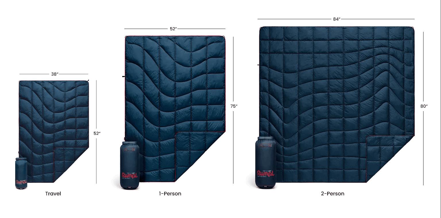 Rumpl Travel Blanket Size