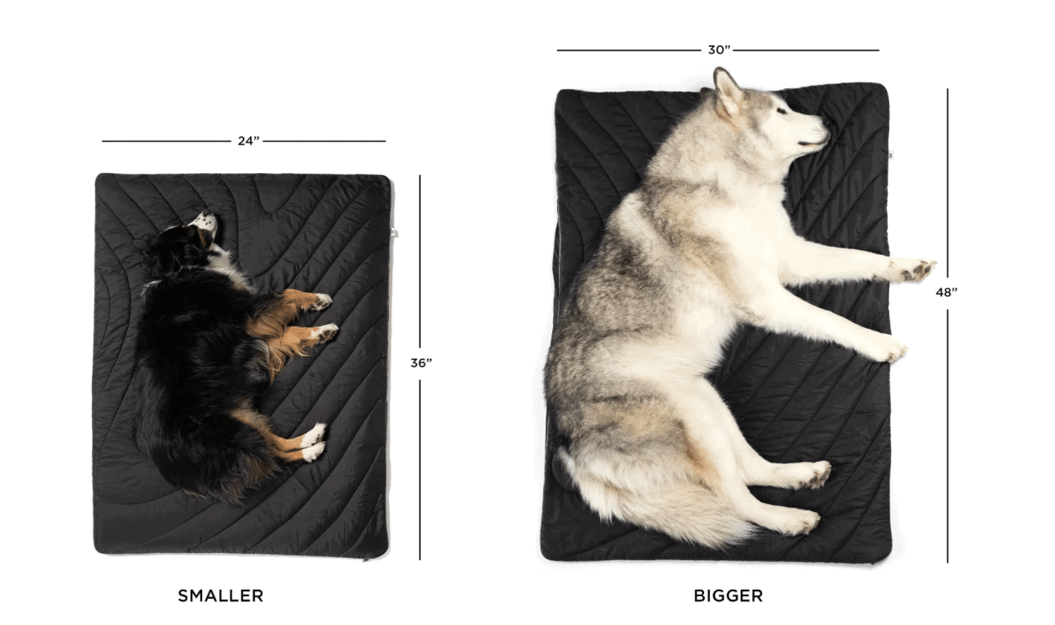 Rumpl Dog Travel Bed comes in 2 sizes