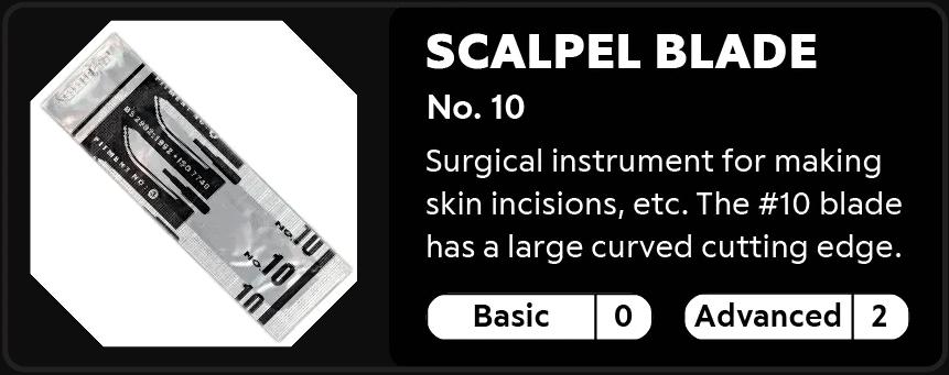 Scalpel Blade No.10 0-2