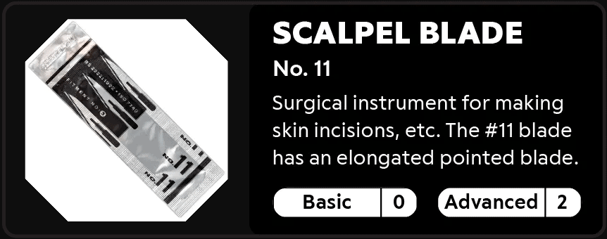 Scalpel Blade No.11 0-2