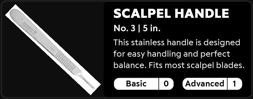 Scalpel Handle 0-1