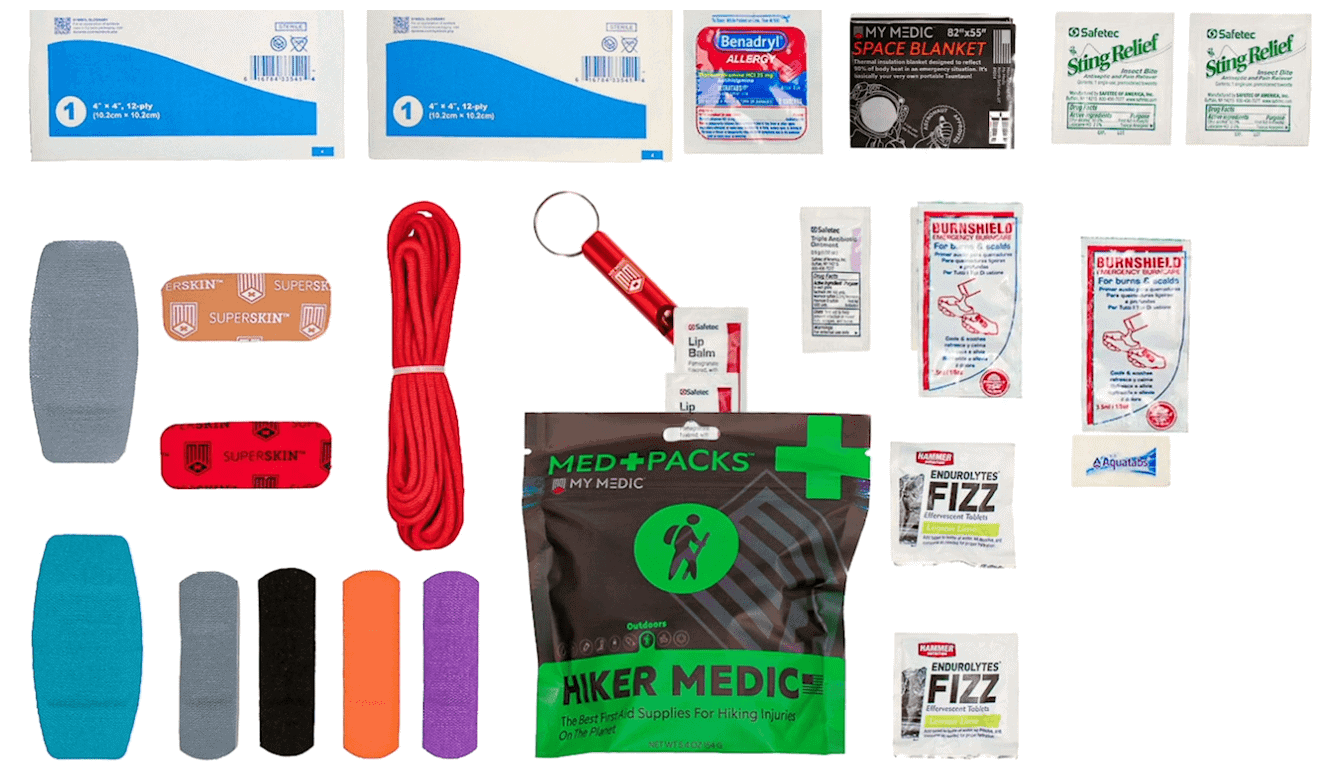 What is included in the Medic Supplies Section of 10 Essentials Kit